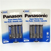Panasonic Heavy Duty AAA Battery 4 Pack