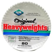 Original Heavyweights Paper Plates 9""