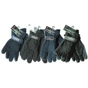 Mens Polar Fleece Gloves Assorted (More Black)