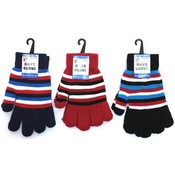 Boys Magic Glove w/Stripes Assorted Colors