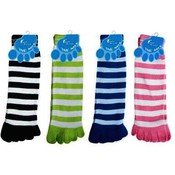 "Toe Sock 2-Toned Striped 11"" Assorted Colors"