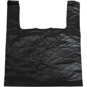 Black Jumbo T-Shirt Bags 18x18x30 inches 15 mic