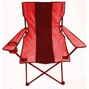Camping Chair Foldable with Carrying Bag, Black & Red Wholesale Bulk