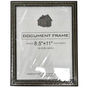 "Document Frame Black w/Gold Trim 8.5"" x 11"""
