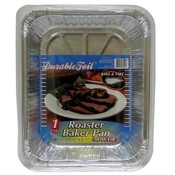 Foil Roast/Baker pan with Lid 11 3/4 x 1/4 x 2 1/2