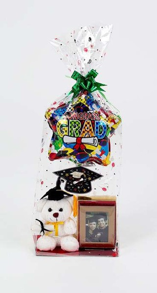 Graduation Bear with Frame GIFT BASKET Party Supplies [993036]