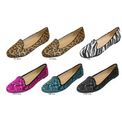 Ladies Animal Print Smoking Shoe
