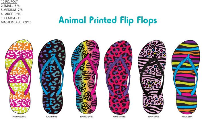 2675e9512ec04b Wholesale Women s Animal Print Fashion Flip Flops (SKU 1257979 ...