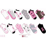 National Breast Cancer Woman&#39;s Novelty Peds Socks