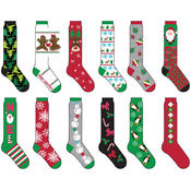 Ladies Christmas 1 Pk Knee High