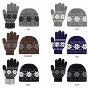 Ladies Nordic 2 Piece Winter Hat and Glove Set