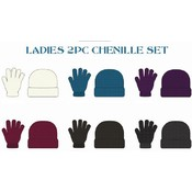 Ladies 2 Piece Chenille Winter Wear Set