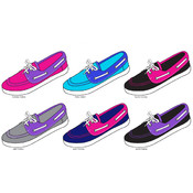 Ladies Colorblock Canvas Boat Shoe