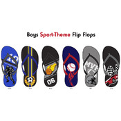 Boys Sport-Theme Flip Flops