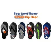 Boys Sport Theme 2-Pack Flip Flops