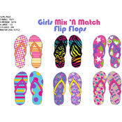 Girls Mix 'n Match Flip Flops Spring/Summer