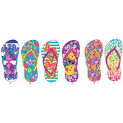 Girls Tropical Inspired Flip Flops