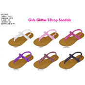Girls Glitter Thong Sandal