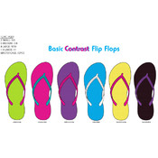 Ladies Basic Contrast Flip Flops