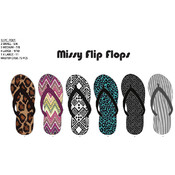 Missy Trendy Fashion Print Flip Flops