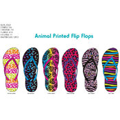 Ladies/Missy Animal Print Fashion Flip Flops