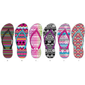 Ladies Tribal Basic Flip Flops