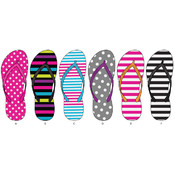 Ladies Stripe & Polka Dot Basic Flip Flops