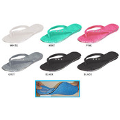 Ladies&#39; Comfort Flip Flop w/Rhinestones