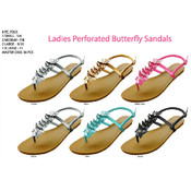 Ladies&#39; Perforated Butterfly Sandal