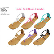 Ladies&#39; Basic Braided Sandals