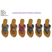 Ladies' Beaded Thong Sandal