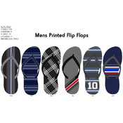 Mens Fashion Printed Flip Flops