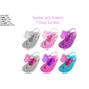 Toddler Girl&#39;s Jelly Butterfly T-Strap Sandals