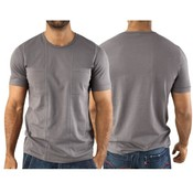 Vuthy Mens Gray Crew Neck 2 Pocket T Shirt XL