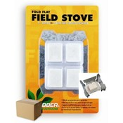 Fold Flat Field Stove w/4 Solid Fuel Tablets