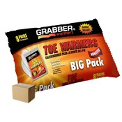 Grabber 8 Pair Big Pack Toe Warmer Foil Bag