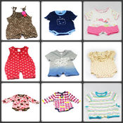 Brand New Baby Cotton Bodysuit Onesis - 100 Pcs