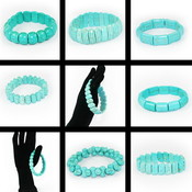 Brand New Natural Turquoise Bracelet - 150Pcs Wholesale Bulk