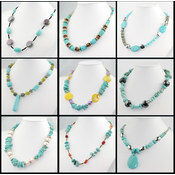 Brand New Natural Turquoise Necklace - 50 Pieces Wholesale Bulk