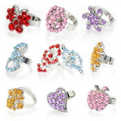 Multi-Stone Rings - Made With Austrian Crystals - 240Pcs Wholesale Bulk
