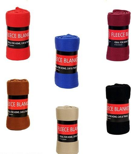 ''Assorted Colored FLEECE BLANKETs - 50'''' x 60'''' [1930549]''