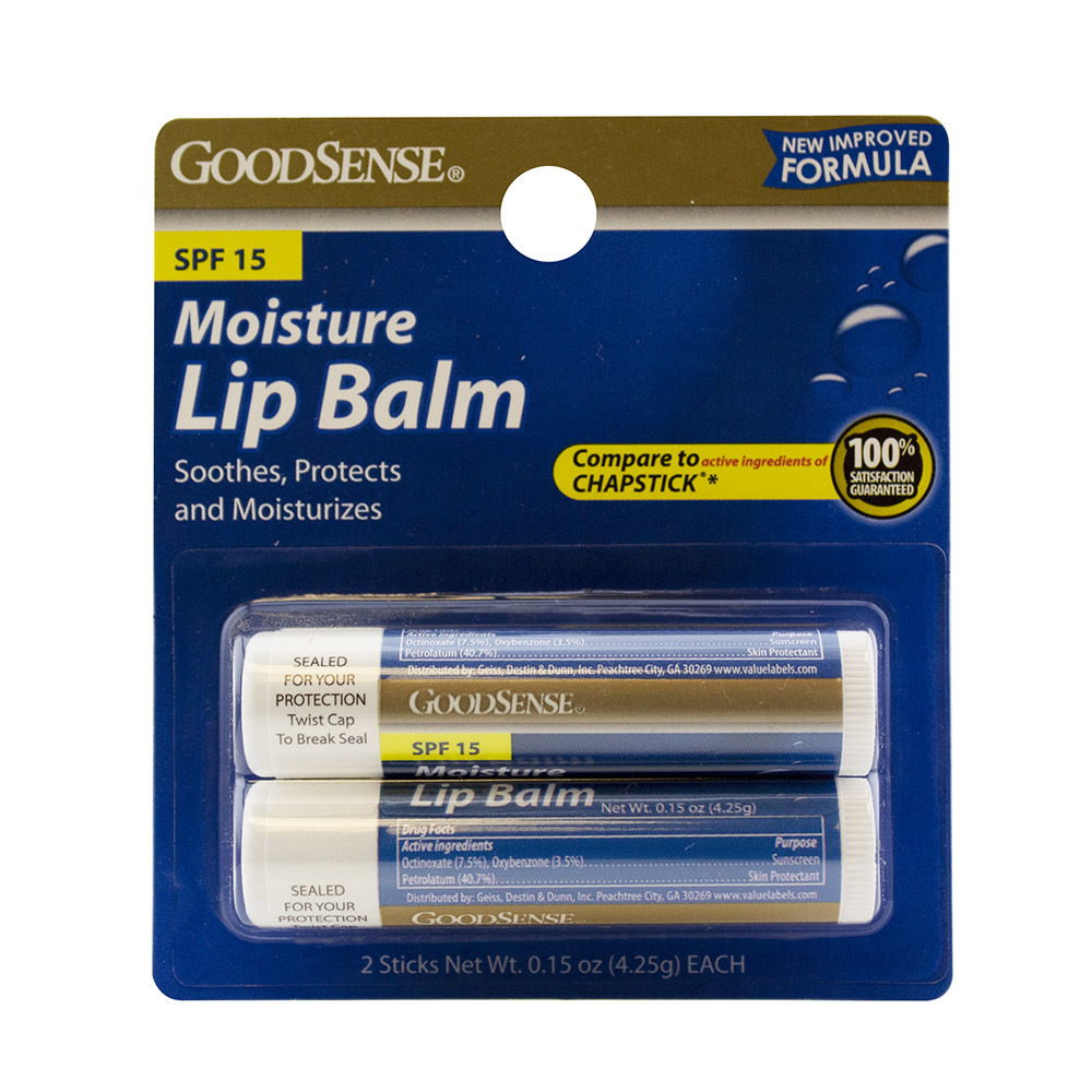 GoodSense(R) Moisturizer Lip Balm with SPF15 Twin Pack [1038673]