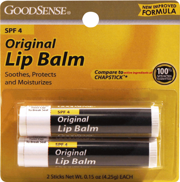 GoodSense(R) Original Lip Balm with Spf-4 Twin Pack 2/0.15 oz. [1038671]