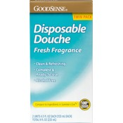 Good Sense Disposable Douche Twin 4.5 Oz Fresh Fragran