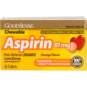 Good Sense Adult Low Dose Chew Aspirin Orange 81 Mg