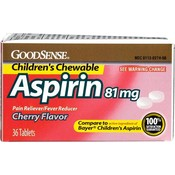 Good Sense Adult Low Dose Chew Aspirin Cherry 81 M