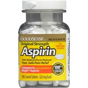 Good Sense Coated Aspirin Tabs 325 Mg - No Ctn