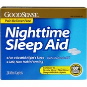 Good Sense Pain Reliever Free Nighttime Sleep Aid Mini-Caplet