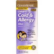 Good Sense Children's Cold & Allergy Elixir Grape