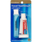 Good Sense Travel Toothbrush With Colgate Paste